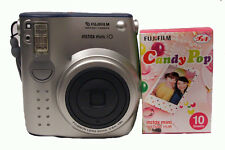Fuji Instax Mini 10 Camera with Candy Pop Film - Silver Camera