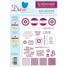 Crafters Companion DIE'SIRE A5 Unmounted Stamps SENTIMENTALS Knit and Stitch