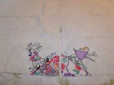 Vintage Tuesday & Saturday Embroidered & Applique Flower Sack Tablecloth Towels