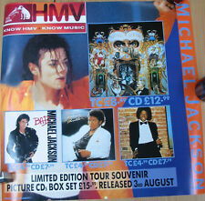 MICHAEL JACKSON Display 2-Sided Poster PROMO ONLY UK Hmv 24""