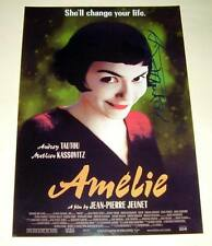 "AMELIE MOVIE CAST PP SIGNED POSTER 12""X8"" AUDREY TAUTOU"