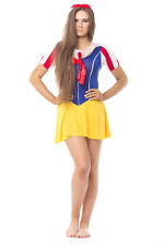 Snow White Fairytale Princess Ladies Fancy Dress Halloween Costume UK Size 10