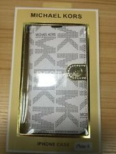 Michael Kors iphone 6 Plus Wallet Case White With Gold Magnetic Strap
