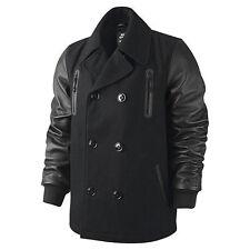 Nike LeBron Varsity Jacke Peacoat Leather Sleeve Jacket Destroyer 507702-010 XL