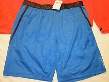 Mens REEBOK RED or BLUE WORKOUT READY Speedwick TRAINING SHORTS wor NWT Embossed