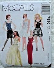 McCall's Petite-Able 7990 Misses' Lined Top & Skirt In 2 Lengths Sz D (12,14,16)