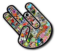 The SHOCKER Hand With Colour JDM Drift Style Sticker Bomb Motiif car sticker