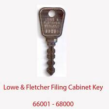 Lowe & Fletcher Replacement Filing Cabinet Key 66001 - 68000
