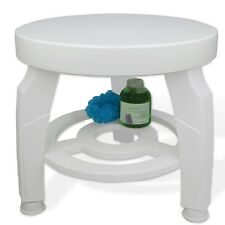 Swivel Shower Bath Stool Rotating Round Support 400lbs Adjustable Saftety Table