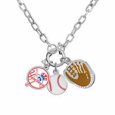 New York YANKEES Fanfare Charm Necklace licensed by MLB NEW NWT 30% Off!