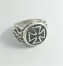 Vintage Woman 316L Stainless Steel Vogue Design Mini Cross Ring Size 9  HOT
