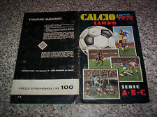 ALBUM CALCIO LAMPO 1977 1978 ED.FLASH COMPLETO M.BUONO TIPO CALCIATORI PANINI
