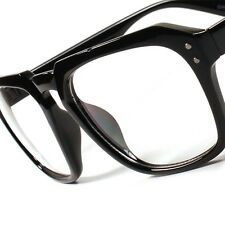Hot Vintage Retro Fashion Hipster Nerd Mens Womens Clear Lens Black Glasses A85