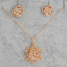 Newest design 18k Gold Filled flower jewelry sets necklace/earrings