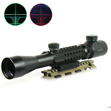 HOT 3-9x40EG Green Rifle Scope Hunting Rifle Sight For Airsoft Gun w/ Mount Cap