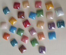 50 Vidrio Cabuchones 8mm plazas ~ ~ Perlado De Vidrio Colores Surtidos flatbacked