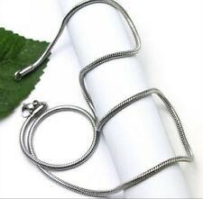 Thin 1.6mm Stainless steel Round Snake Chain Necklace 20'' For Women Men Jewelry