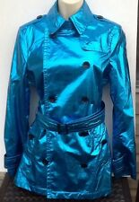 Ladies Burberry Brit Trench Coat  Blue size 6 NWT -$1095.00 Women's Coat