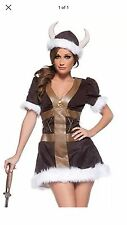 Sexy Womens Viking Costume Adult Wench Princess Barbarian Warrior Size Medium