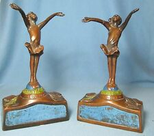 Rare GOOD FAIRY Bookends JESSIE M RALEIGH JMR by ARMOR BRONZE