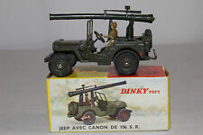 1960's French Dinky #829 Jeep with Mounted Cannon, Nice with Original Box, Lot 8
