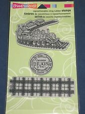 Stampendous Toy Train Cling Rubber Stamps set of 3 NIP