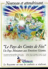 Publicité advertising 1994 Disneyland Paris...Pays des contes de Fées