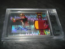 2011 Robert Griffin III Topps Finest Pulsar Ref Patch Auto RC /25 BGS 9 F7424438