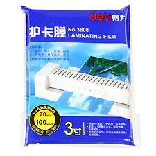 100 Sheet 60x95mm 70 Micron Laminating Pouch Film Glossy Protect photo paper