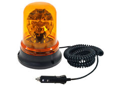 12V Rotating Revolving Warning Light H3 Halogen Strong  Magnetic Base