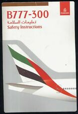 EMIRATES Boeing B 777 - 300 SAFETY CARD airline brochure sc690 ax