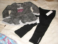 BNWTS Calvin Klein Baby Set, Baby Girls 2-Piece Tunic and Pants SZ 24 MONTHS