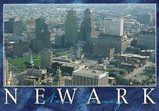 Aerial View of Newark, New Jersey, Broad Street, Military Park, NJ --- Postcard