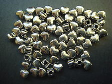 250 cute silver 4mm heart Tibetan style valentine spacer beads