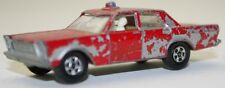 Vintage Matchbox Ford Galaxie fire Chief #59 Issued 1966 #G-36#