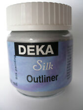 DEKA SILK PAINT OUTLINER 50ml SILVER FOR PAINTING - NEW