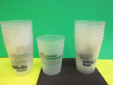 NFL- GILLETTE STADIUM- OLD CMGI AND FIDELITY CLUBHOUSE PLASTIC BEER CUP(24) TOTA