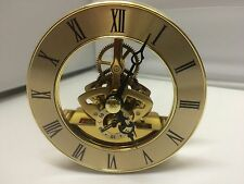 SKELETON CLOCK MOVEMENT/ INSERT.86mm GOLD COLOUR