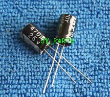 10pcs 470uF 25V 105°C Radial Electrolytic Capacitor 8x12mm