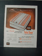 1953 Serta Perfect Sleeper Smooth Top Mattress Priceless Vintage Print Ad 10734
