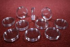 20 CLEAR PLASTIC COIN CAPSULES 51 MM SIZED