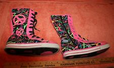 2013 Women's Justice Multi-Colored Super High Top Shoes size 3