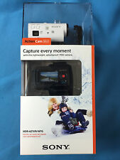 Sony HDR-AZ1VR Action Camera Mini Kit W/ Live View Remote White Brand New