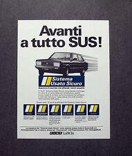 H826- Advertising Pubblicità -1982- SISTEMA USATO SICURO , FIAT LANCIA