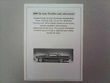 1960 DeSoto factory cost/dealer sticker prices for De Soto car and options $$$$