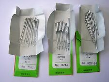 30 MIXED SIZES SEWING MACHINE NEEDLES FITS TOYOTA BROTHER JANOME SINGER SILVER +