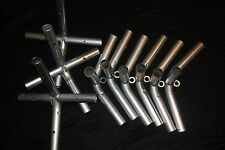 9 fittings and 6 foot pads for 1-3/8 inch top rail - high pitch canopy frame