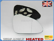 Wing Mirror Glass VAUXHALL INSIGNIA 2008-16  Wide Angle HEATED Right Side #F030