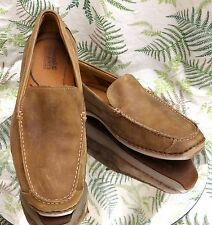 TIMBERLAND BROWN SUEDE LEATHER LOAFERS SLIP ONS DRIVING SHOES US MENS SZ 10.5 M