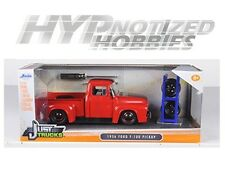 JADA 1:24 FORD 1956 F-100 PICKUP WITH EXTRA WHEELS DIE-CAST RED 97684-MJ